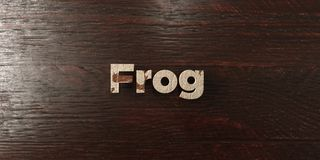 Frog - grungy wooden headline on Maple  - 3D rendered royalty free stock image Royalty Free Stock Photos