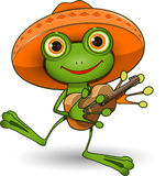 Frog with Guitar Stock Photo