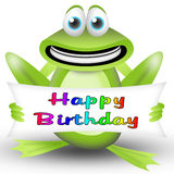 Frog happy birthday Royalty Free Stock Image