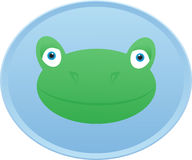 Frog head Button badge Royalty Free Stock Photography