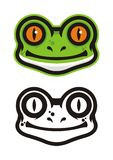 Frog Head Logo Stock Photo