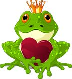 Frog with heart Stock Photos