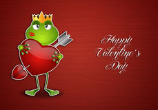 Frog with heart. Illustration of Frog with heart in Valentine's Day Stock Photography