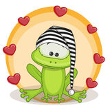 Frog with hearts Royalty Free Stock Photography