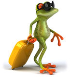Frog on holidays. Cute little frog, 3D generated vector illustration