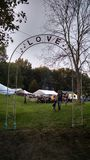 Love Arch at Hollerfest Music Festival stock image