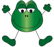 Frog illustration royalty free stock image