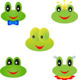 Frog Illustrations, Frog Faces Stock Photography