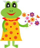 Frog Iluustration, Cartoon Frog Illustrations Stock Image