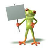 Frog : insert your text Royalty Free Stock Photography
