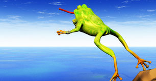 Frog jumping Royalty Free Stock Photo