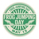 Frog Jumping Day stamp. Frog Jumping Day, May 13, rubber stamp, vector Illustration Royalty Free Stock Images