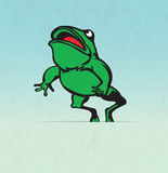Frog  jumping Royalty Free Stock Photos