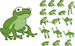 Frog jumping sprite Stock Photo
