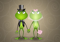 Frog just married Stock Images