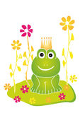 Frog King royalty free stock photo