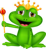 Frog king cartoon Royalty Free Stock Photos