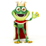 Frog king Stock Image
