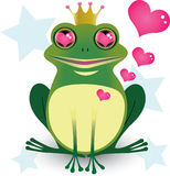 Frog King in Love Royalty Free Stock Images