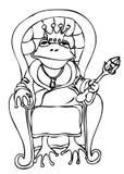Frog king outline illustration Vector Illustration