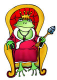 Frog king outline illustration Stock Photography