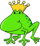Frog king Vector Illustration. Cute Frog king Vector Illustration Stock Image