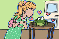 Frog kiss Royalty Free Stock Photo