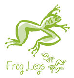 Frog lags french meal concept illustration. Stock Image