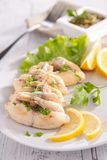 Frog leg with parsley Royalty Free Stock Images