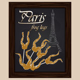 Frog legs on a background eifel tower Royalty Free Stock Images