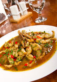 Frog legs stew Royalty Free Stock Image