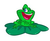 Frog lily pad cartoon illustration Stock Images