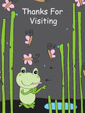 Frog living alone Royalty Free Stock Images