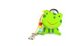 Frog Lock and Key Royalty Free Stock Photos