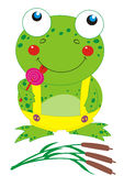 Frog with lollipop Stock Image