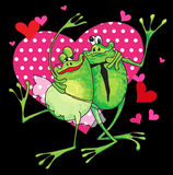 Frog lovers Royalty Free Stock Photos