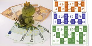Frog of luck in the game. Royalty Free Stock Photography