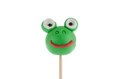 Frog made of plasticine Stock Photo