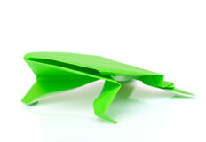 Frog origami isolated Royalty Free Stock Images