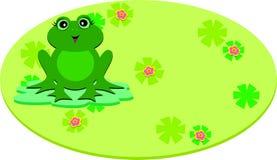 Frog on a Oval Pod Stock Photos