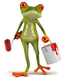 Frog and paint Royalty Free Stock Images