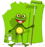 Frog painter Royalty Free Stock Photos
