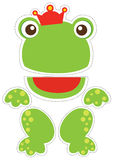 Frog paper puppet. Paper puppet for cut it out and play Stock Photography