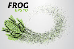 Frog of particles. The frog consists of small circles. Vector illustration Royalty Free Stock Photos
