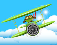 Frog pilot Stock Image