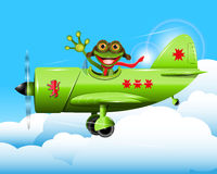 Frog pilot Stock Photography