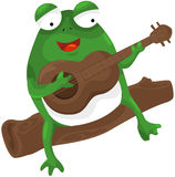 Frog playing a guitar Royalty Free Stock Photos