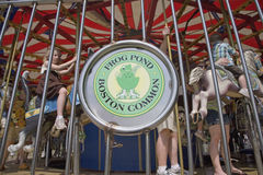 Frog Pond Merry-Go-Round Stock Image