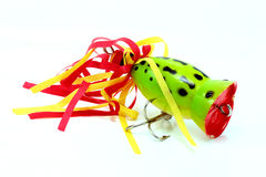 Frog popper imitation Stock Photo
