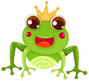 Frog prince. Illustration of isolated frog prince on white background stock illustration